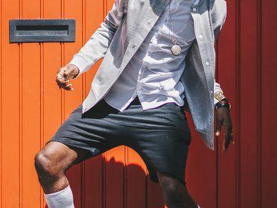 gay black dude dancing on the street